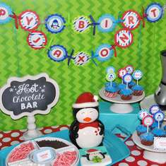 Boys Penguin Birthday Party - Penguin Birthday - Winter One-Derland