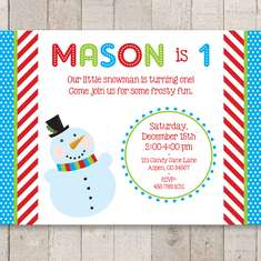 SNOWMAN BIRTHDAY PARTY - Snowman Birthday Party