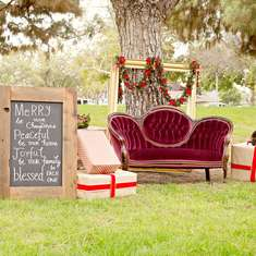 Be Merry - Have a Merry Perry Christmas! - Rustic Red and Gold