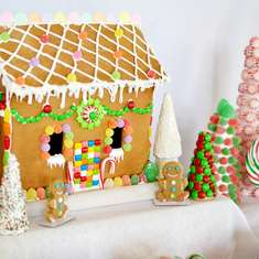 Candyland Gingerbread House Decorating Party - Candyland
