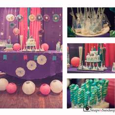 Frozen themed party: Colorful and beautiful decor - Frozen (Disney)