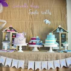 Butterfly Kisses, Spider Tickles (Boy and Girl joint birthday party) - Butterfly Kisses, Spider Tickles