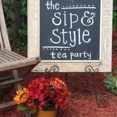 Sip and Style Tea Party - fall tea party and fashion show