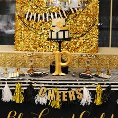 Glamorous Black and Gold 50th Birthday Party - Black and Gold, Leopard Skin
