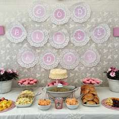 Addy's Baptism - Pink & Pearl