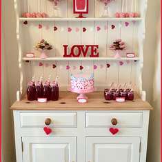 Valentine's 'LOVE' Dessert Table - Love is in the Air