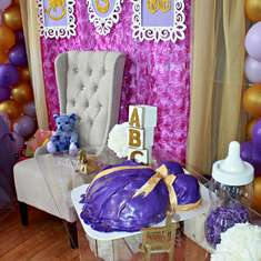 Gold and Lavender Baby Shower - Purple