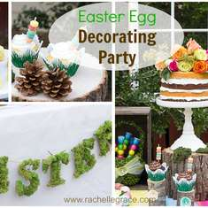 Easter Egg Decorating Party - Easter