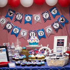 Nolan's Nautical Mickey Birthday - Nautical Mickey Mouse
