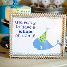 "A ""Whale"" of a 2nd Birthday Party - Whales"