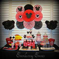 Mickey & Minnie Mouse Party for a boy and girl!  - Mickey Mouse / Minnie Mouse