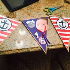 Nico's First Birthday - Nautical