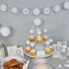 Boys Baby Shower -  It's A Boy!  - Blue and Gray - It's A Boy! - Boys Baby Shower