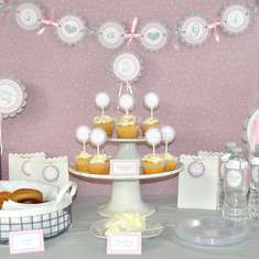 Girls Baby Shower -  It's A Girl!  - Pink and Gray - Girls Baby Shower -  It's A Girl!