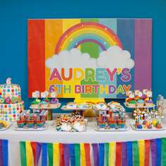 Colorful Rainbow Birthday Dessert Table - Rainbow