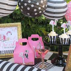 Fancy Flamingo cocktail party - Flamingos