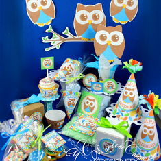 Owl Party Package - Boy Owl
