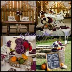 Fike-Stanley Wedding - plum and orange fall-country barn wedding