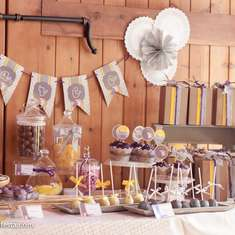 Rustic  First Communion Party - bread and wine