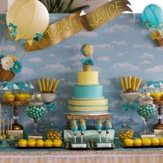Hot Air Balloon Party Ideas For A Baby Shower Catch My Party