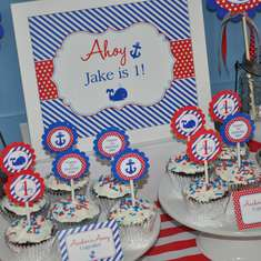 Nautical 1st Birthday Party - Whales and Anchors - Red, White and Blue