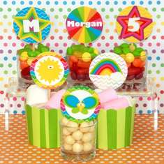 Rainbow Birthday Party - Rainbows