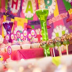 MAD SCIENTIST BIRTHDAY PARTY - Pink, Purple, Green.