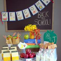 Healthy Back to School Party  - School room