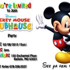 Mickey Mouse Club House - MMCH Themed 5th Birthday Party
