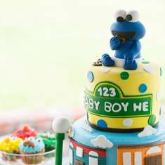 Baby Boy He - Baby Shower - Sesame Street