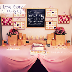 A Vintage Love Story Bridal Shower - Love / Romance