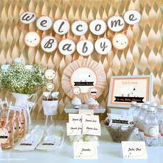 Peach Little Lamb Baby Shower Inspiration - Little Lamb