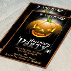 Printable Halloween party invitation - None