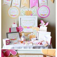Little Pumpkin Birthday Decorations - Little Pumpkin