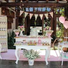 Larissa's 1st Birthday Party - Pink, Gold and Mint Heart Party
