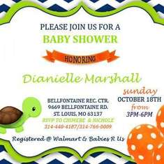 Dianielle's Baby Shower  - Turtle themed