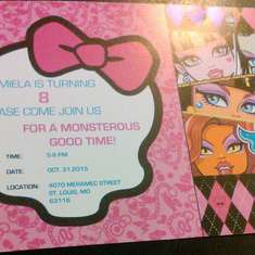 Mimi's Monster High Birthday Party  - Monster High