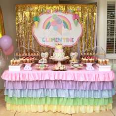 Celebration time for Clementine! - Pastel rainbow and Icecream