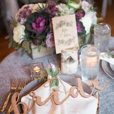 Ethereal + Romantic September Wedding - Amethyst, lavender, succulents, plums, figs, concord grapes, kale