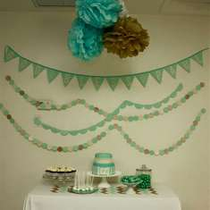 Baptism Party - Teal and Gold