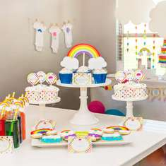Rainbow Baby Shower + FREE Printables - Rainbows