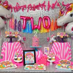 Ellie's Lisa Frank Inspired Birthday Party - Lisa Frank/Unicorn