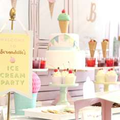 Bernadette's 1st Birthday Party - Ice Cream Parlour