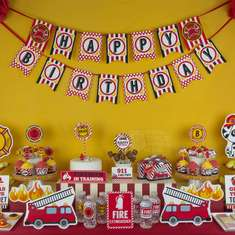 Fire Engine Birthday Party - Fire Truck / Firefighter