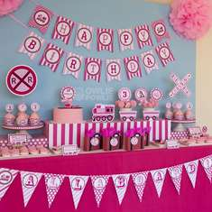Pink Choo Choo Train Birthday Party - Trains