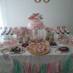 Cumple 30  - Pink , Aqua and Gold