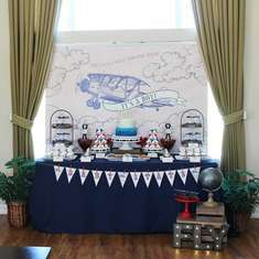 Vintage Aviation themed Baby Shower by Ashleigh Nicole Events - Vintage Aviation