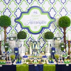 Rustic Contemporary Navy and Lime Baby Shower - Moroccan