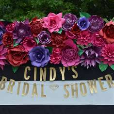 SPANISH GARDEN BRIDAL SHOWER - Spanish florals