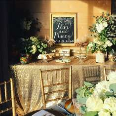 Love Is Sweet - Rustic Glam and Gold